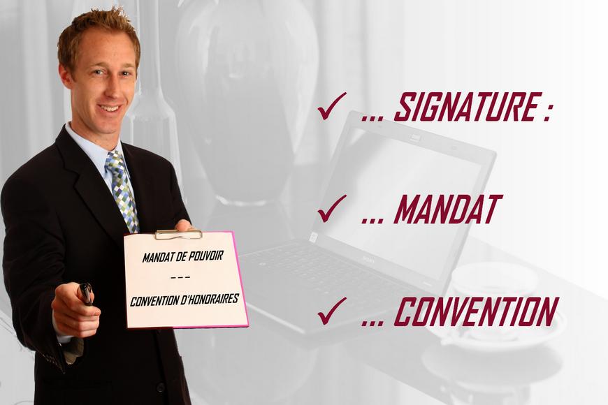 paris détective, convention d'honoraires et signature du mandat